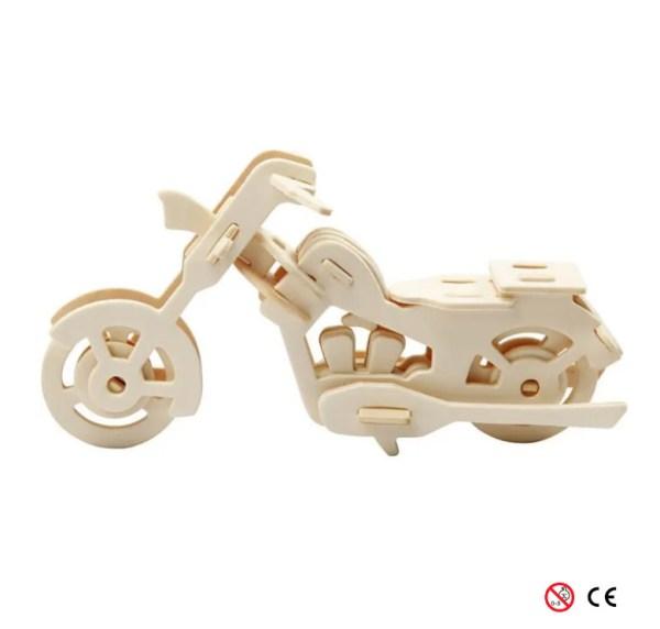 motocicleta para montar 3D y pintar manualidades de lado
