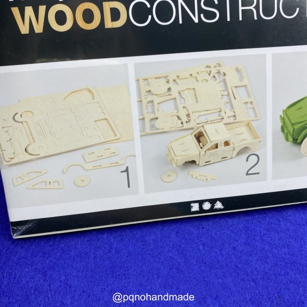 Coche furgoneta pickup para montar 3D y pintar detalle pack manualidades