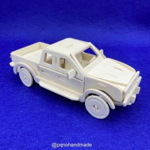Coche furgoneta pickup para montar 3D y pintar manualidades