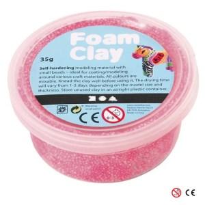 Plastilina Foam Clay rosa para decorar manualidades