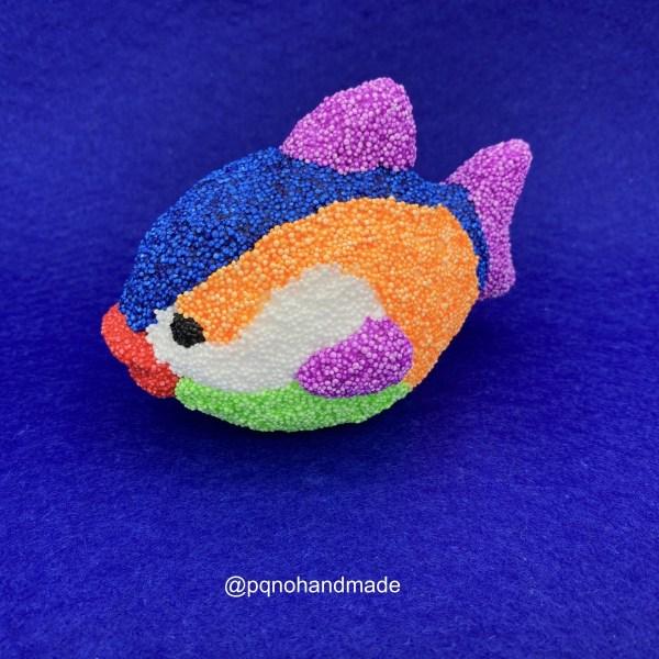 pez porexpan para pintar decorar manualidades decorado con foam clay de colores manualidades