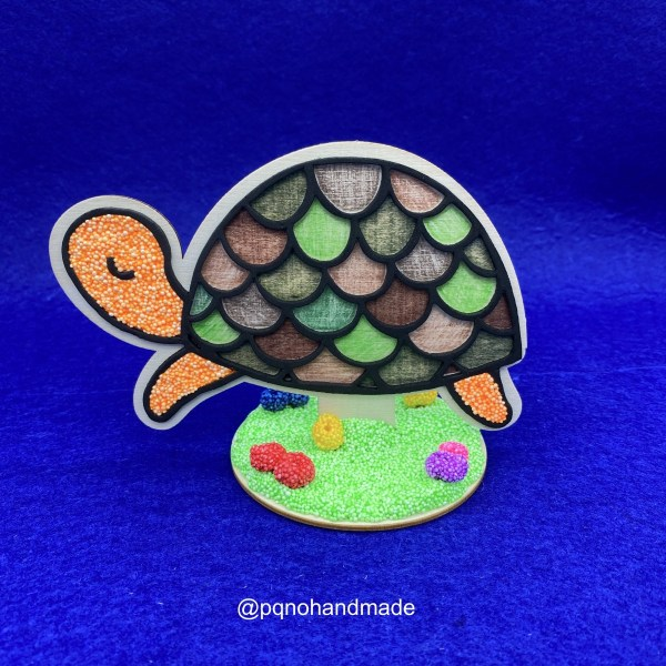 tortuga de madera natural para pintar decorada rotulador foam clay lapiz woodless manualidades
