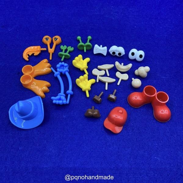 Set partes del cuerpo para plastilina Soft Dough para modelar y jugar manualidades 26 piezas