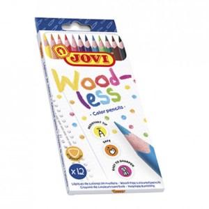 caja 12 lapices de colores woodless material manualidades