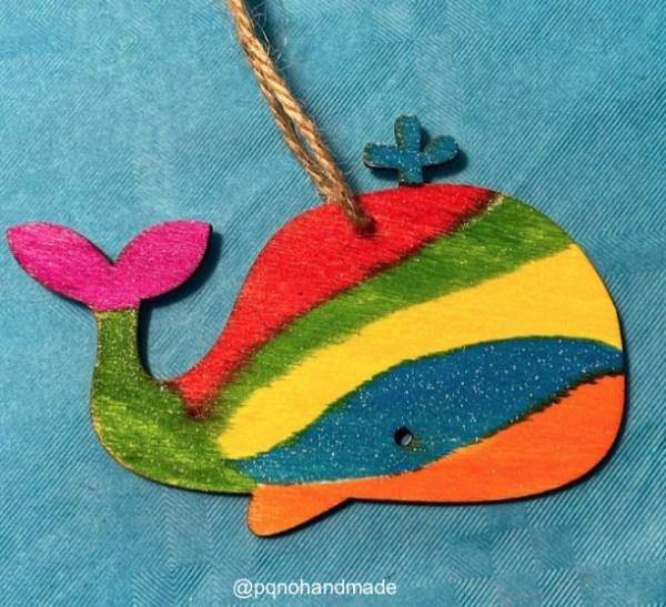 ejemplo ballena pintada rotuladores glitter brilli brilli manualidades jovi