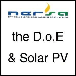 Nersa the DoE and Solar PV