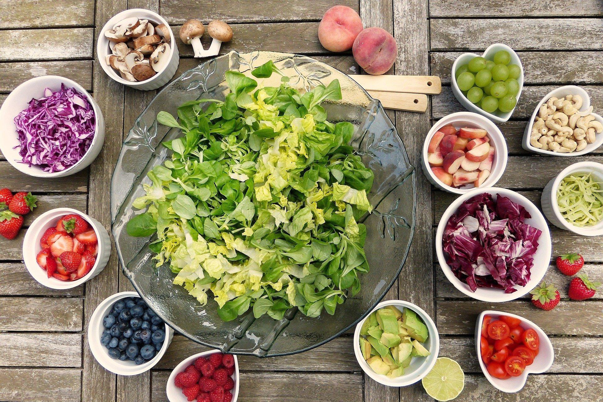 Salat, Gemüse und Obst - Fasten