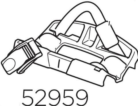 Apoio e Presilha Traseira de roda da calha 598