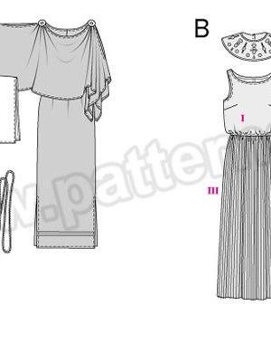 Выкройка Burda №2353 — Карнавальные костюмы: Римлянка, Египтянка