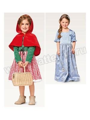 Выкройка Burda №2356 — Карнавальные костюмы: Красная шапочка и Принцесса