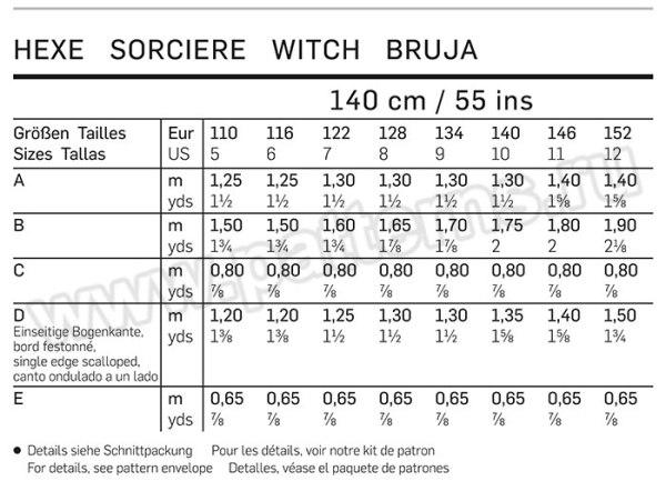 """Выкройка Burda №2367 — Карнавальный костюм """"Ведьма"""""""