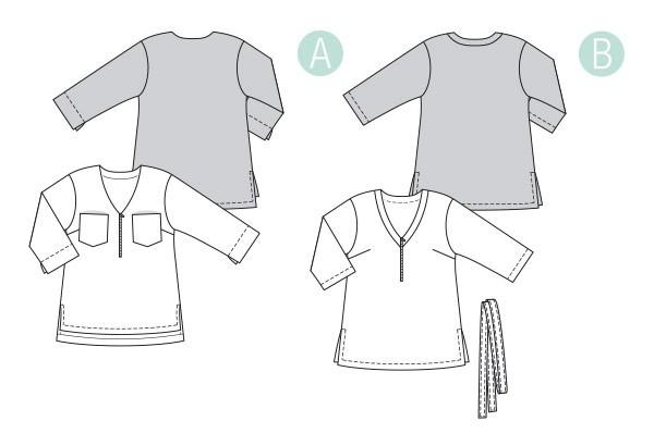 Выкройка Burda №6306 — Блуза, туника