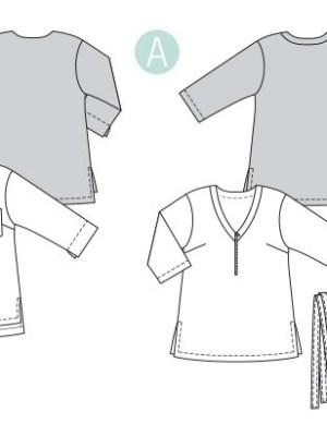 Выкройка Burda  6306 — Блуза, туника