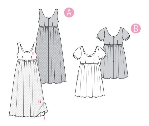 Выкройка Burda  6312 — Платье в стиле ампир