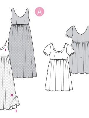 Выкройка Burda №6312 — Платье в стиле ампир