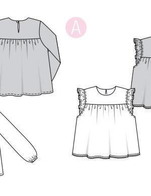 Выкройка Burda  6313 — Рубашка-блуза