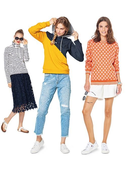 Выкройка Burda №6315 — Толстовка, пуловер