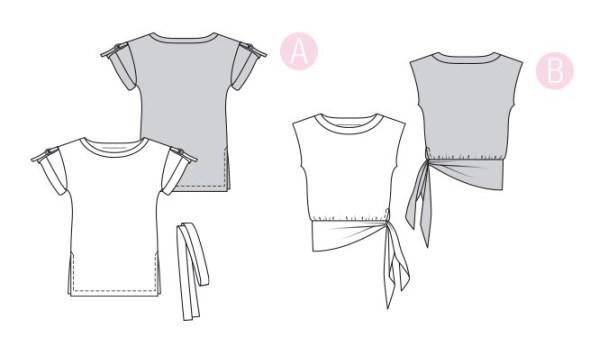 Выкройка Burda №6324 — Блузка с поясом