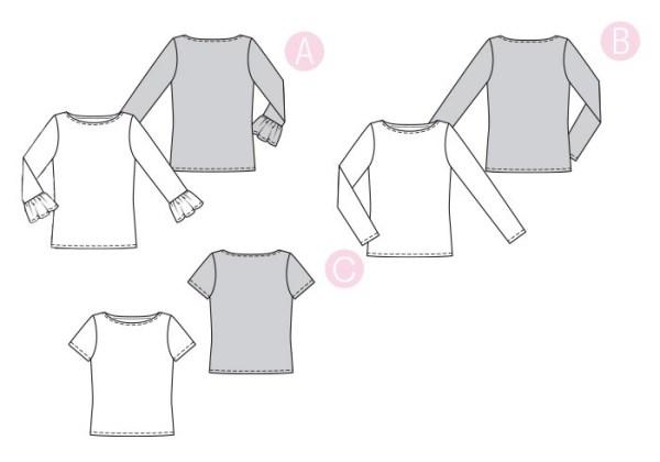 Выкройка Burda  6328 — Блузка, футболка