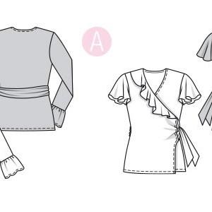 Выкройка Burda  6331 — Блузка с запахом