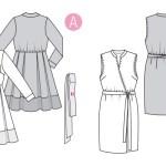 Выкройка Burda  6338 — Платье с запахом