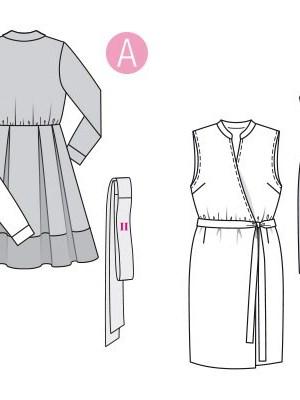 Выкройка Burda №6338 — Платье с запахом