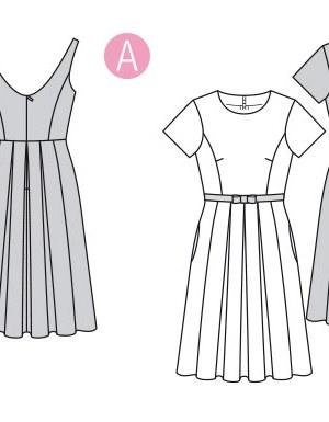 Выкройка Burda  6343 — Платье с цветочным принтом, платье в полоску
