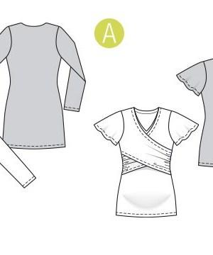 Выкройка Burda  6347 — Футболка, пуловер для будущих мам