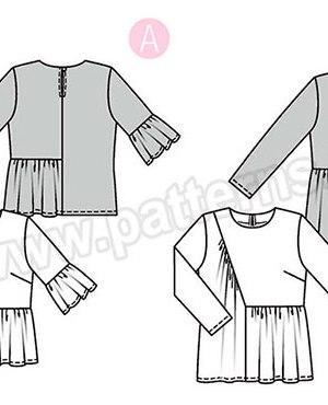 Выкройка Burda №6354 — Блуза