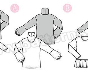 Выкройка Burda №6367 — Пуловер