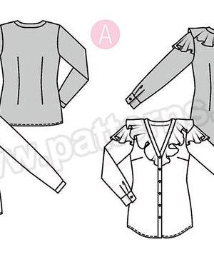 Выкройка Burda  6368 — Блузка с V-образным вырезом