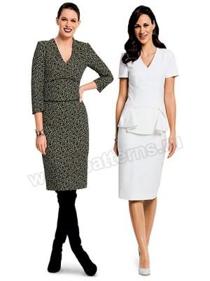 Выкройка Burda №6383 — Платье с баской