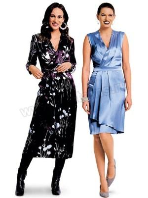 Выкройка Burda №6384 — Платье с запахом