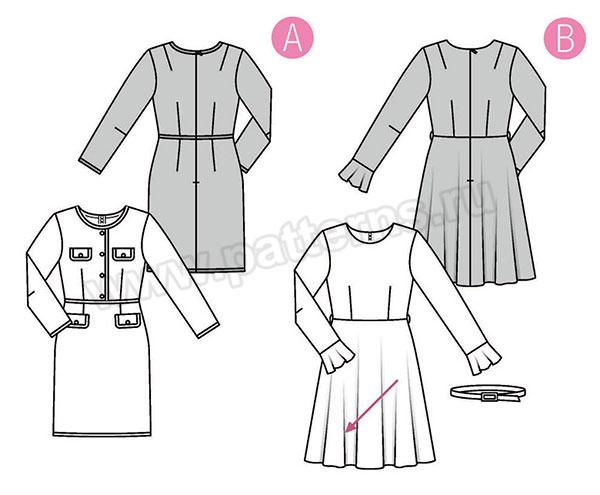 Выкройка Burda  6385 — Платье