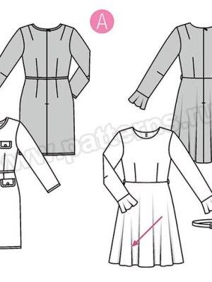 Выкройка Burda №6385 — Платье