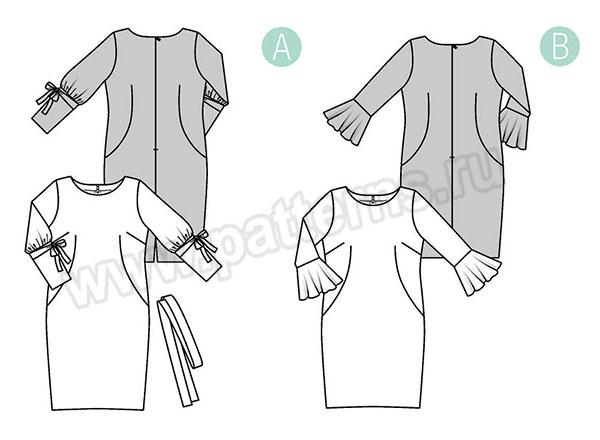 Выкройка Burda  6389 — Платье
