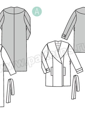 Выкройка Burda №6394 — Пальто