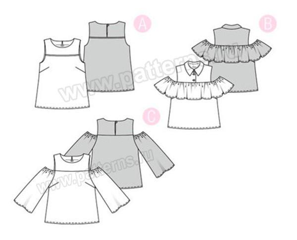 Выкройка Burda  6405 — Топ, блуза
