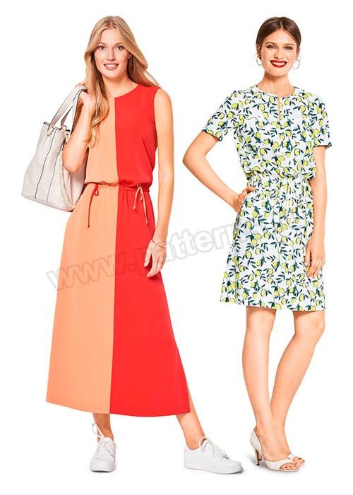Выкройка Burda №6419 — Платье