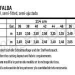 Выкройка Burda №6430 — Юбка со складками
