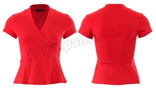 Выкройка Burda №6443 — Топ с баской, платье