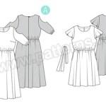 Выкройка Burda №6449 — Летнее платье