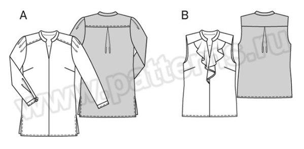 Выкройка Burda №6456 — Блузка