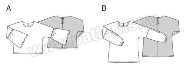 Выкройка Burda №6477 — Блуза