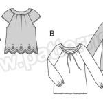 Выкройка Burda №6502 — Блуза