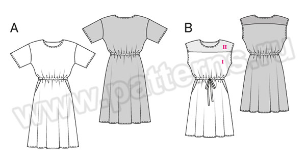 Выкройка Burda №6509 — Платье