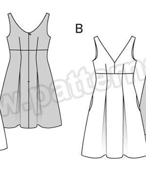 Выкройка Burda №6536 — Платье-Сарафан