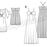 Выкройка Burda №6537 — Платье-Сарафан