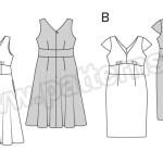 Выкройка Burda №6549 — Платье