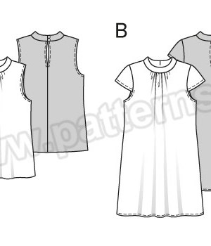 Выкройка Burda №6555 — Платье, Топ